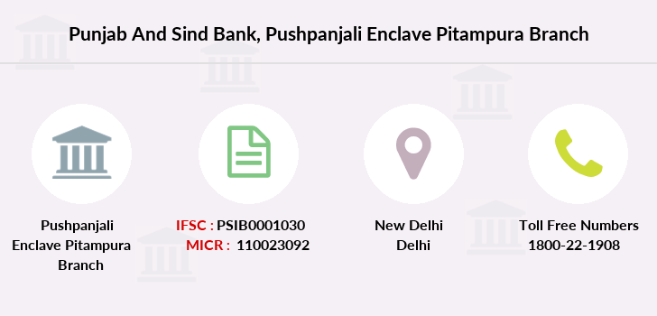 Punjab-and-sind-bank Pushpanjali-enclave-pitampura branch