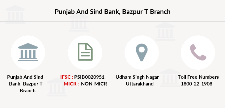 Punjab-and-sind-bank Bazpur-udham-singh-nagar branch