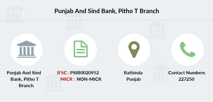 Punjab-and-sind-bank Pitho-bathinda branch