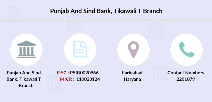Punjab-and-sind-bank Tikawali-t branch