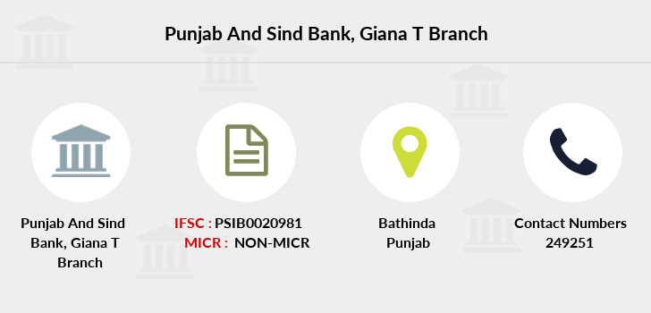 Punjab-and-sind-bank Giana-bathinda branch