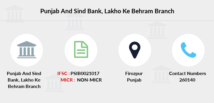 Punjab-and-sind-bank Lakho-ke-behram branch