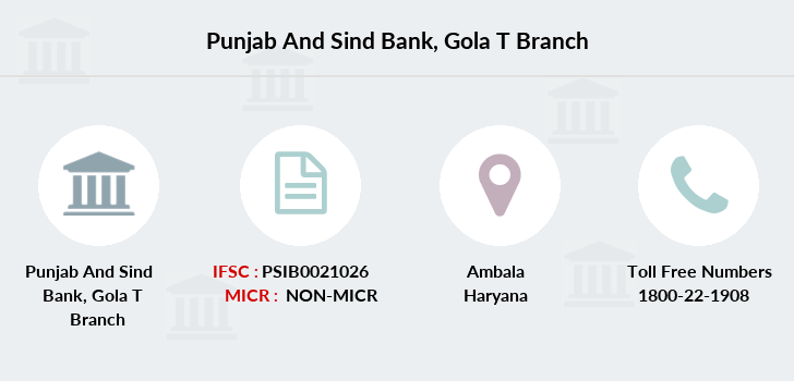 Punjab-and-sind-bank Gola-ambala branch