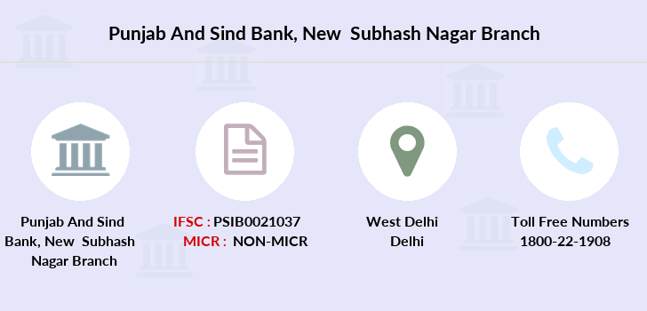 Punjab-and-sind-bank New-subhash-nagar branch