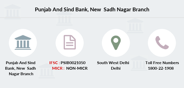 Punjab-and-sind-bank New-sadh-nagar branch