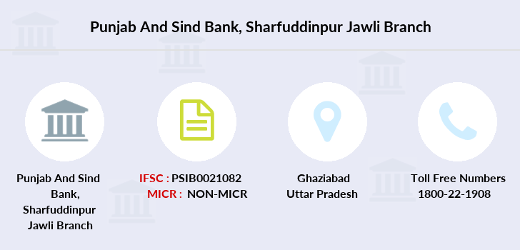 Punjab-and-sind-bank Sharfuddinpur-jawli branch
