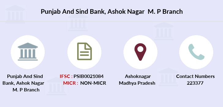 Punjab-and-sind-bank Ashok-nagar-m-p branch