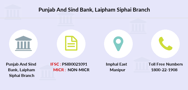 Punjab-and-sind-bank Laipham-siphai branch