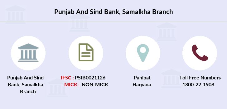 Punjab-and-sind-bank Samalkha branch