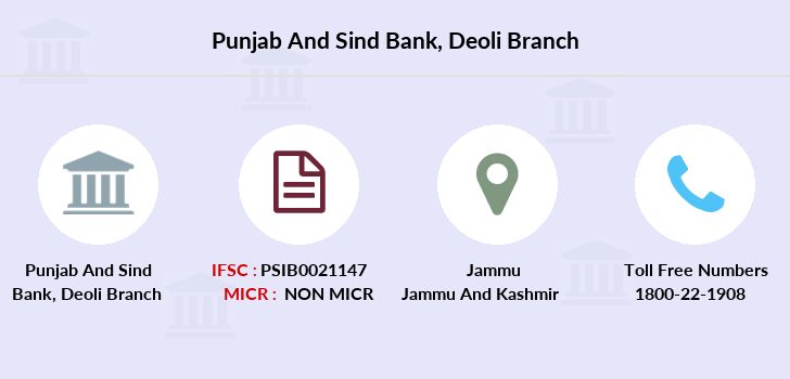 Punjab-and-sind-bank Deoli branch