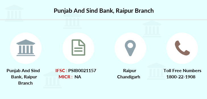 Punjab-and-sind-bank Raipur branch