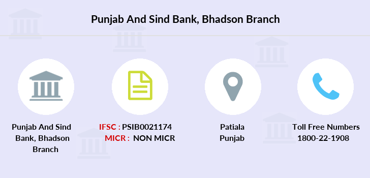 Punjab-and-sind-bank Bhadson branch