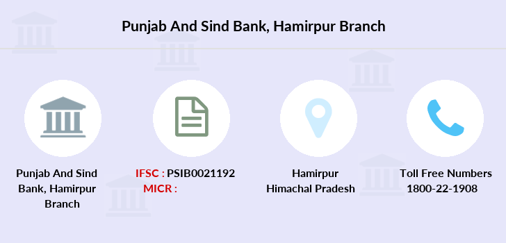 Punjab-and-sind-bank Hamirpur branch