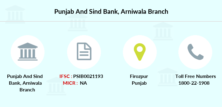 Punjab-and-sind-bank Arniwala branch