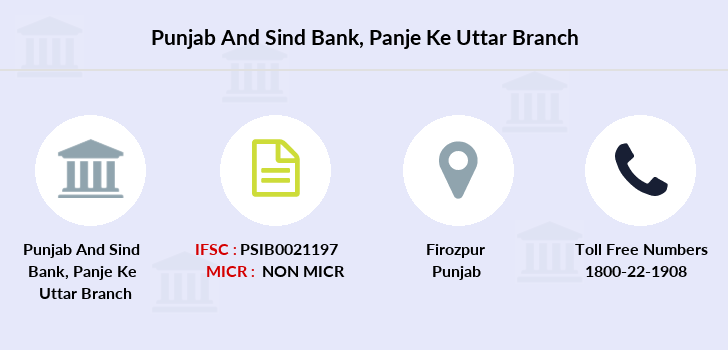 Punjab-and-sind-bank Panje-ke-uttar branch