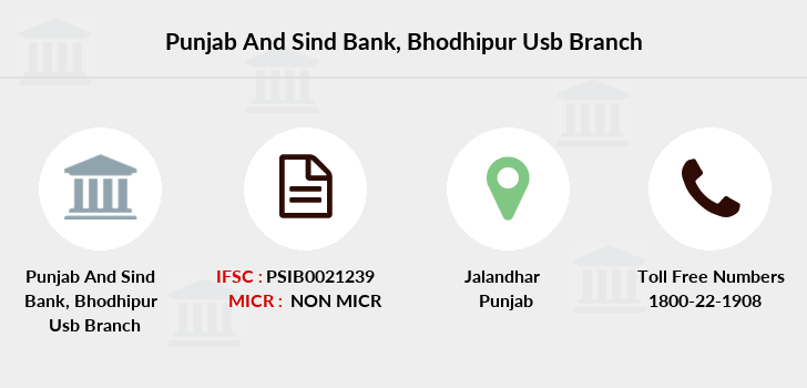 Punjab-and-sind-bank Bhodhipur-usb branch