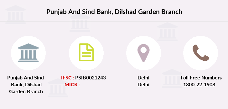 Punjab-and-sind-bank Dilshad-garden branch