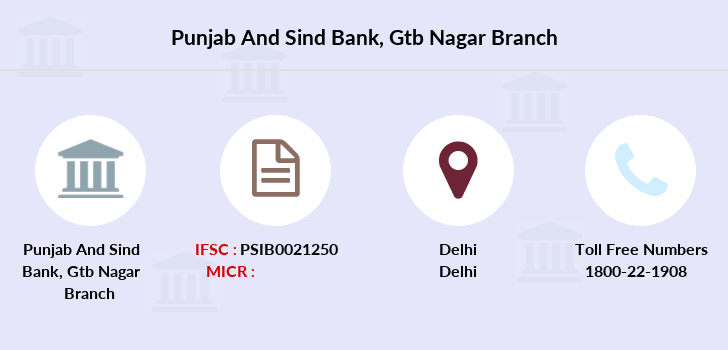 Punjab-and-sind-bank Gtb-nagar branch