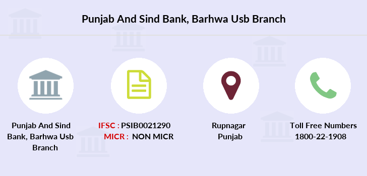 Punjab-and-sind-bank Barhwa-usb branch