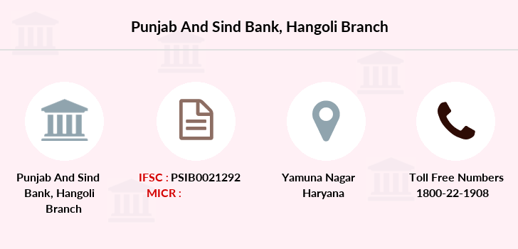 Punjab-and-sind-bank Hangoli branch