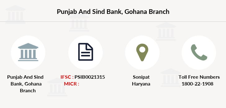 Punjab-and-sind-bank Gohana branch