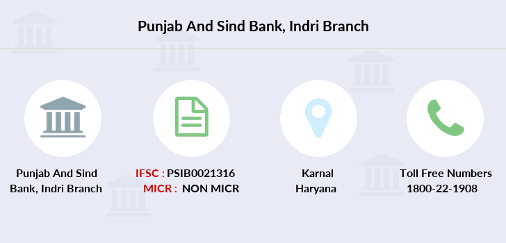 Punjab-and-sind-bank Indri branch