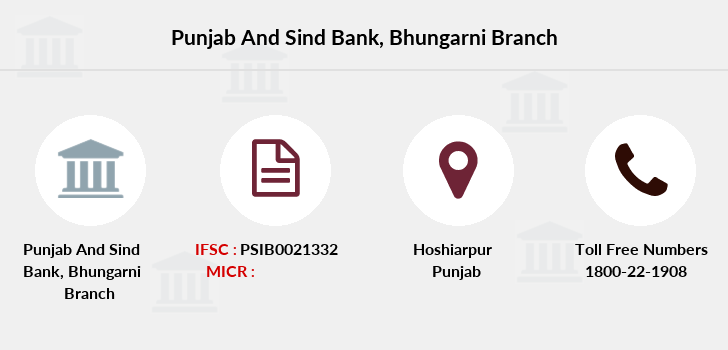 Punjab-and-sind-bank Bhungarni branch