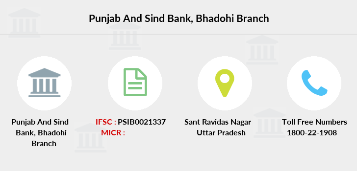 Punjab-and-sind-bank Bhadohi branch