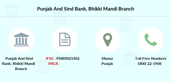 Punjab-and-sind-bank Bhikki-mandi branch