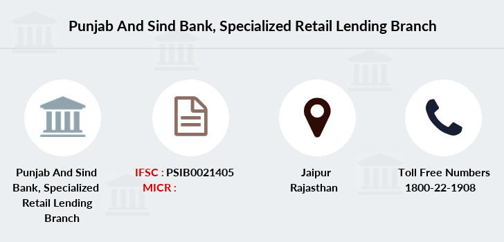 Punjab-and-sind-bank Specialized-retail-lending branch