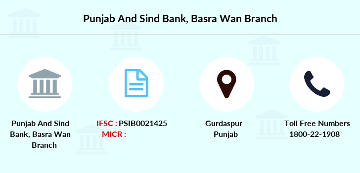 Punjab-and-sind-bank Basra-wan branch