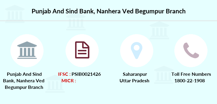 Punjab-and-sind-bank Nanhera-ved-begumpur branch