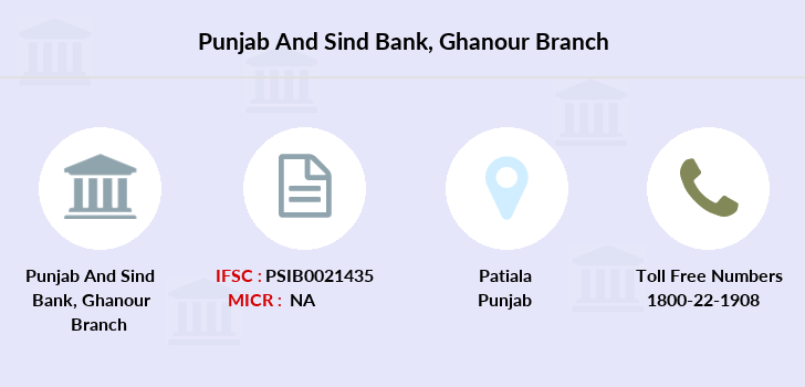 Punjab-and-sind-bank Ghanour branch