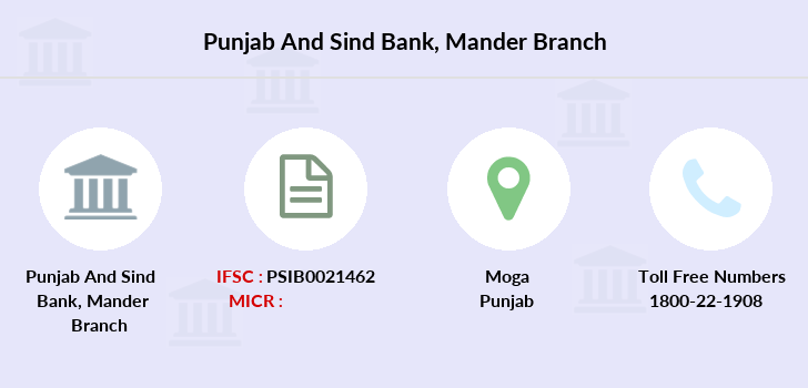 Punjab-and-sind-bank Mander branch