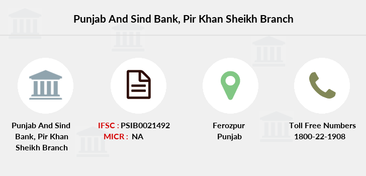Punjab-and-sind-bank Pir-khan-sheikh branch