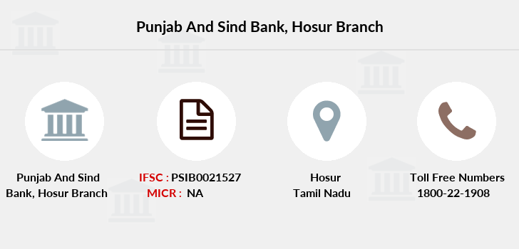 Punjab-and-sind-bank Hosur branch