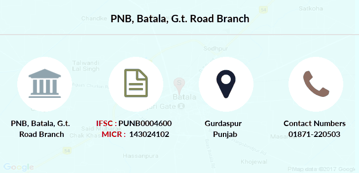Punjab-national-bank Batala-g-t-road branch