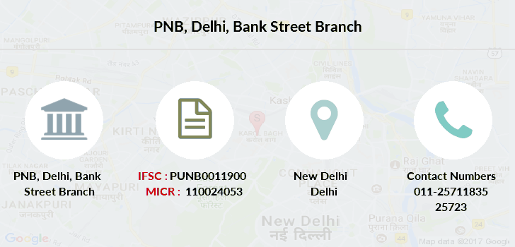 Punjab-national-bank Delhi-bank-street branch