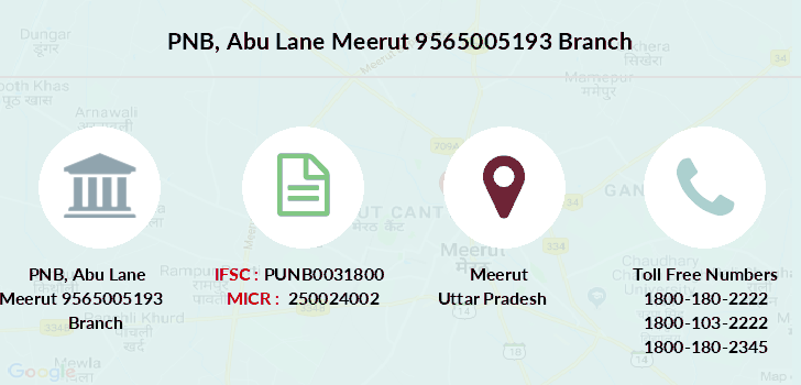 Punjab-national-bank Abu-lane-meerut-9565005193 branch