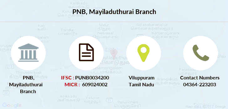 Punjab-national-bank Mayiladuthurai branch