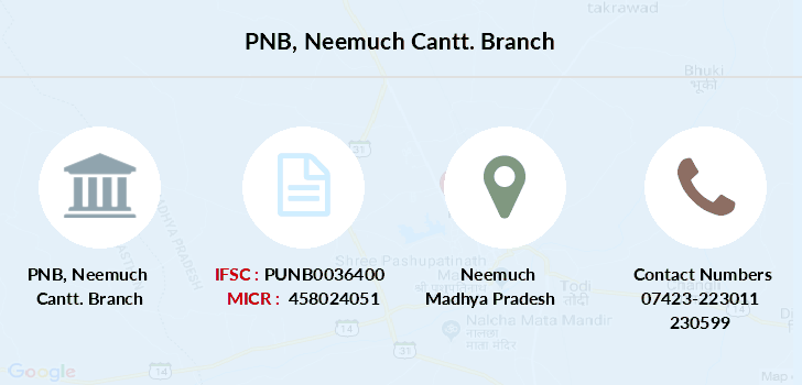 Punjab-national-bank Neemuch-cantt branch