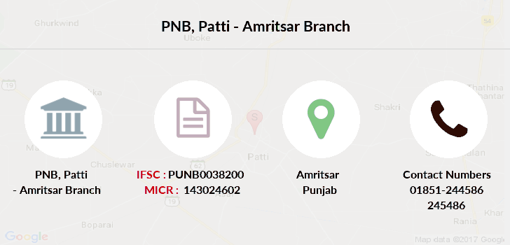 Punjab-national-bank Patti-amritsar branch