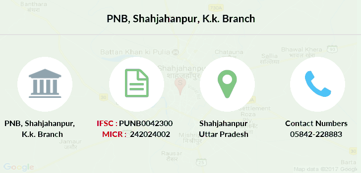 Punjab-national-bank Shahjahanpur-k-k branch