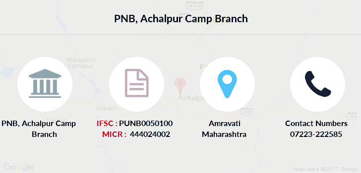Punjab-national-bank Achalpur-camp branch