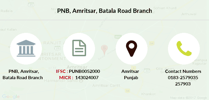 Punjab-national-bank Amritsar-batala-road branch
