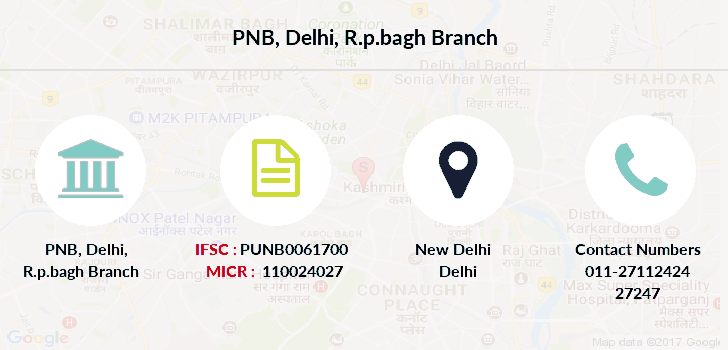 Punjab-national-bank Delhi-r-p-bagh branch
