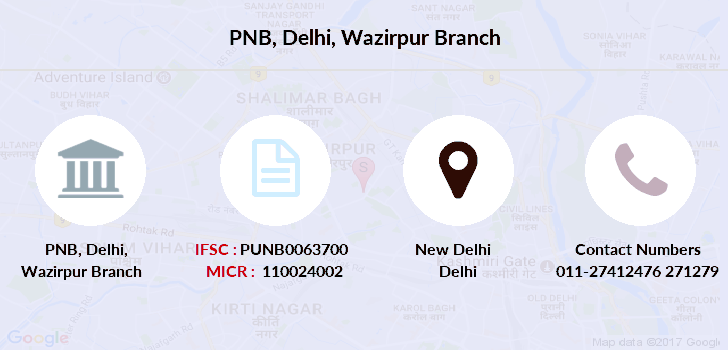 Punjab-national-bank Delhi-wazirpur branch