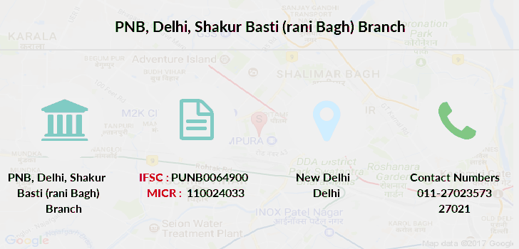 Punjab-national-bank Delhi-shakur-basti-rani-bagh branch