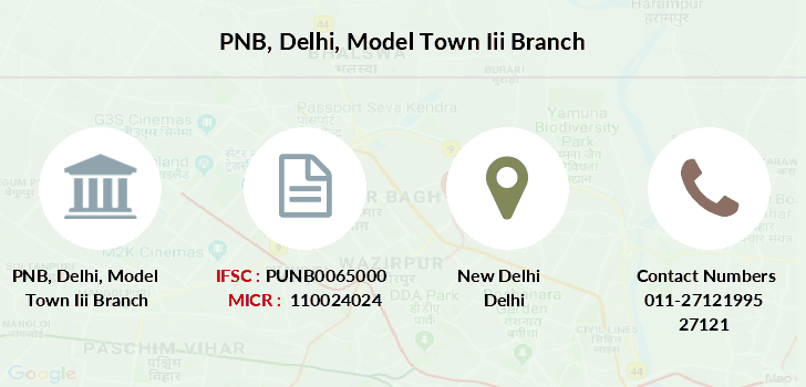 Punjab-national-bank Delhi-model-town-iii branch