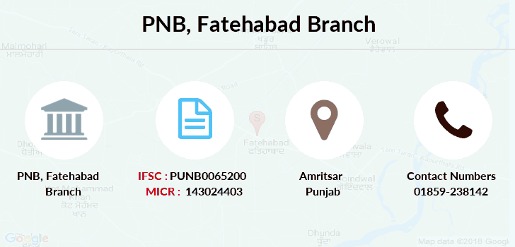 Punjab-national-bank Fatehabad branch